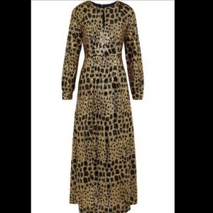 Free People Antik Batik Gold & Black Sequin Gown